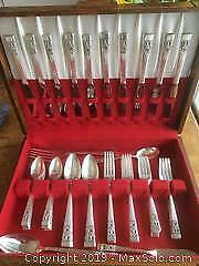 Set of CORONATION Silver-plate Flatware