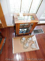 Antique Pharmacy Scale In Display Case - A