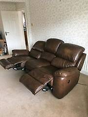 La Z Boy 3 seater leather recliner sofa