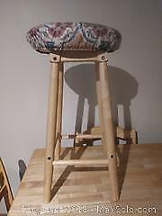 Bar Stool Shelf And Foot Stool A