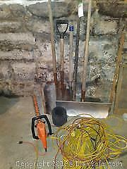 Extension Cords and Yard Tools A