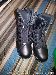 Stealth Force 8.0 works boots and a pair of dress shoes