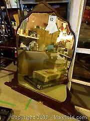 Vintage Mirror, Vintage Window Panes and Vintage Wooden Ladder B