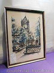 Framed art By Andre Day. 17x22 City Scape