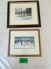 2 hockey themed collectible artworks A