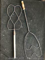 Antique Rug Beaters x 2