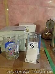 Lead Crystal Highball, Pressed Glass Goblets and Vacation Collection Glasses A