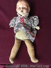 Antique Porcelain Doll, Cloth Body
