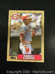 1987 Topps 648 Barry Larkin Rookie Baseball Card