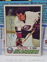1977-78 OPC Ed Westfall Signed Hockey Card