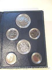 1982 Royal Canadian Mint Silver Dollar Set of Canadian Currency Coins.