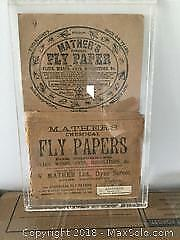 Antique Fly Paper Packaging in Acrylic Sleeve.