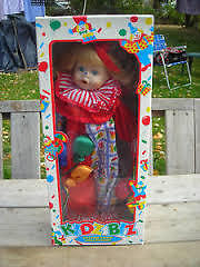 Collectible: Kid Biz Porcelain Clown Doll, Hand Painted