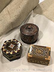 Inlaid And Decorated Wooden Boxes A