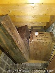 Older Wooden Box And Crates. B
