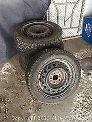 4 Used Tires and Rims B