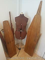 Seamstress Mannequin & Two Vintage Ironing Boards