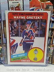 1984-84 OPC Wayne Gretzky Hockey Card Hart Trophy Winner