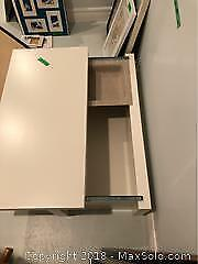 Set Of TV Trays And Sliding Top Storage Table C