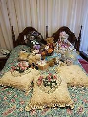 Stuffed Animals And Decorative Pillows - A