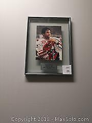 Framed Floating Autographed and Numbered Doug Gilmour Hockey Photo - A