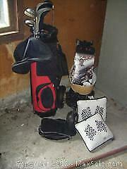 Golf Clubs, Manual Cart And More B