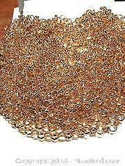 10 Metres Rose gold plated Large Rolo Link Chains