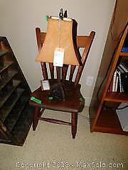 Chair And Table Lamp A