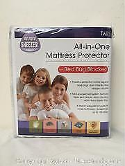 Twin Size Mattress Protector With Bed Bug Blocker