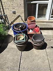 Mixed Lot Of Garden Planters