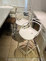Kartell Plastic Bar Chairs And More- B