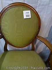 Two Art Moderne French Dining Arm Chairs Circa Late 1800s
