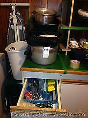 Large Pots and Small Oven Pan A
