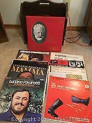 Magazine Rack And Vinyl LPs