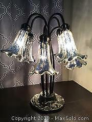 6 Arm Table Lamp With Glass Shades