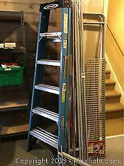 Step Ladder And Shelving