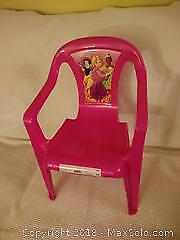 Kids chair, two Japanese dolls
