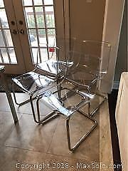 Four Lucite Chairs B