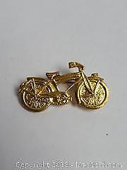 Vintage Bicycle Motorcycle Pin