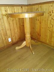 F. Round Bar Height Table C