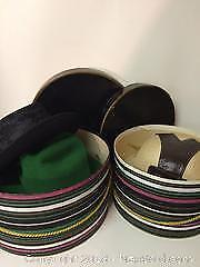 Lot of Vintage Ladies Hats and Hat Boxes