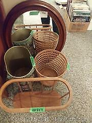 Baskets and Mirror A