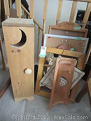 Collection Of Pine Wood Holders B