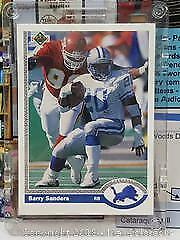 1991 Upper Deck Football Barry Sanders Promotional card