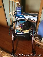 Bios Rollator Walker, Crutches, Blood Pressure Monitor And More A