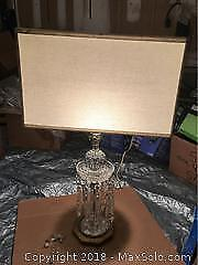 Vintage Crystal Lamp