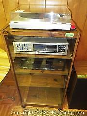 Stereo Equip and Cabinet A