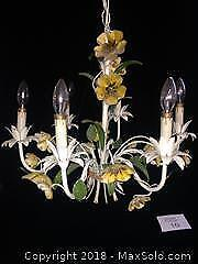 Italianate Style Ornate Fixture with Flowers and Leaves