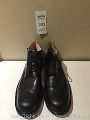 Men`s Large Size Black Leather Shoes Docksteps Size 16