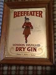 PAWN PRO'S HAS A BEEFEATER GIN MIRROR IN AN OAK FRAME Peterborough Peterborough Area image 1